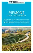Merian REISEFÜHRER PIEMONT Lago Maggiore Turin + LANDKARTE , ungelesen, wie NEU
