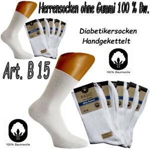 Diabetikersocken 100% Baumwolle Socken ohne Gummi Arztsocken Gesundheitssocken