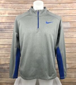 Nike Therma-Fit 1/4 Zip Pullover Jacket MENS SZ L Gray Blue Casual Active
