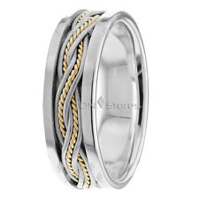 Braided Wedding Ring Mens Braided Rings 10K Gold Handmade Wedding Band Womens