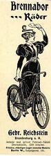 Gebr. Reichstein Brandenburg a. H./ Berlin Brennabor Räder Histor. Annonce 1899