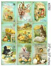 9 Victorian Vintage Easter Hang Tags Scrapbooking Paper Crafts (24)