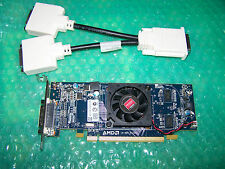 AMD Radeon HD6350 512MB PCIe LP Dual DVI Monitor Graphics Card + Cable
