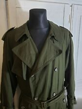 Vintage Hugo Boss Military Green Trench Coat fishtail Parka