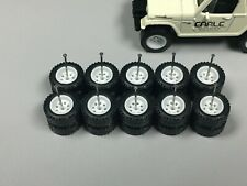 RL12 >Lot 5pc Hot Wheels 1/64 > RR8 Dot White Offroad, RUBBER TIRES REAL RIDERS