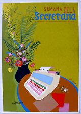 Vera Cortes Semana de la Secretarias Poster Serigraph 1984 DIVEDCO Puerto Rico
