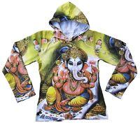 Lord GANESH GANESHA Hindu Elefanten Gott Tattoo Art Designer Hoodie T-Shirt M 40