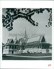 1985 Grand Palace in Phnom Penh Cambodia Original News Service Photo