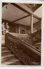 D8414cgt UK Durham Castle The Black Staircase vintage postcard
