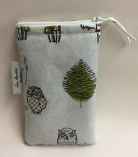iPhone 6s zipped cover,phone case,iPhone Cover,Woodland Fox and owl Oilcloth