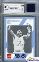 1989 UNC #65 Michael Jordan ROOKIE w/Worn UNC Shorts BECKETT 10 MINT GGUM