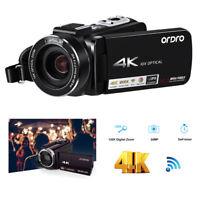 Andoer FHD IPS Video Camera WiFi 24MP 4K+10X Optical Zoom Camcorder CMOS Sensor