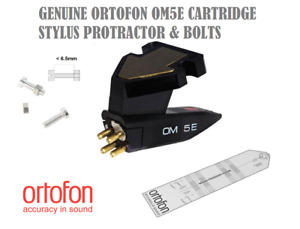 Ortofon OMB5E OM5E OM-5E Cartridge Elliptical Stylus Protractor & Mounting Bolts