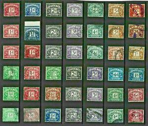 GB POSTAGE DUE Stamps ACCUMULATION needs sorting USED Ref:QV681a
