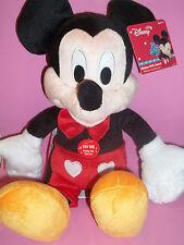 """Disney Valentine's 9"""" Mickey Plush Doll With Sound ~ NWT!!!"""