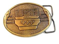 1984 Olympics Belt Buckle Signed United States Olympic Committee