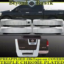 Fits 2004-2012 NISSAN TITAN Crew Cab Chrome Door Handle+Tailgate COVERS Overlays