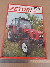 DEPLIANT ZETOR 7011 TRATTORE TRACTOR