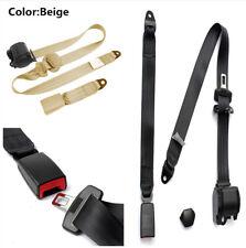 Durable Retractable 3 Point Car Seat Belt Lap & Diagonal Belt for Safe Driving