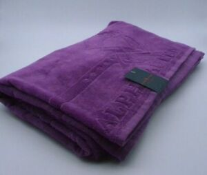 Ralph Lauren Beach Towel In Purple Cotton New With Tags Genuine Item RRP £45