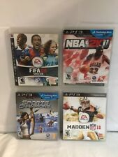 4 PlayStation 3 /PS3 Video Games ~Untested~ Football ~soccer~basketball~Sports