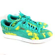 Puma Suede Classic Tropicalia Sneaker Shoes Electric Green Size 9.5 US Women