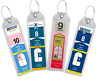 Cruise Luggage Tag Holder Zip Seal & Steel - Royal Caribbean Celebrity Clear 4
