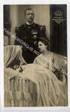 (Ld7352-473) Queen Wilhelmina, Prince Henry & Princess Juliana 1909, Used G-VG