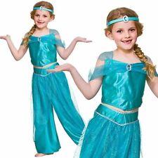 Girls ARABIAN PRINCESS Fancy Dress Book Week Costume Jasmine Genie Fairy tale