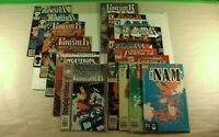 Lot of 17 Marvel Comics The Punisher, Deathlok, and The NAM
