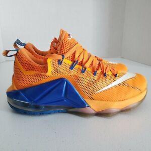 Nike LeBron James XII 12 Low Sneakers Citrus Orange 724557-838 Mens Size 7.5
