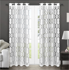 Exclusive Home Curtains Rio Burnout Sheer Grommet Top (54x108/Winter White)