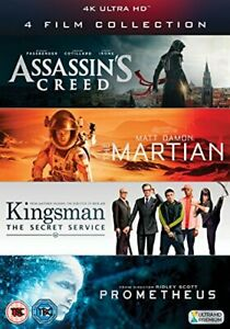 4K UHD Film Collection (Assassins Creed, The Martian, Kingsman and [DVD]