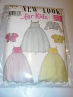 TODDLER CHILDS UNCUT SIMPLICITY 6074 Sewing Pattern FLOWER GIRLS DRESS SIZE 3-8
