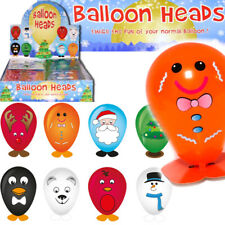 CHRISTMAS CHARACTER BALLOON HEADS TOYS BOYS GIRLS PARTY BAG XMAS STOCKING FILLER