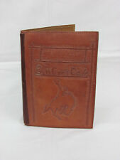 Vintage Hand Tooled Leather Menu Cover Bucking Bronc