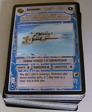 Star Wars ccg SWCCG lot of Hoth rebel light side cards A