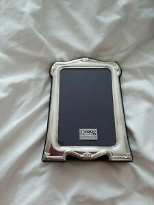 Traditional style Carrs sterling silver photo frame boxed unused gift