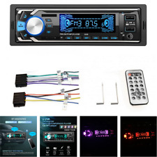 Single 1 Din Car Bluetooth Stereo Audio Radio MP3 Player FM/SD/TF 2USB AUX Input