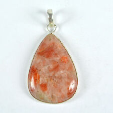 Charming 10 Grams 925 Silver Plated Natural Sunstone Gemstone Jewelry Pendant