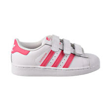 Adidas Superstar CF C Little Kids Shoes Footwear White/Real Pink/Pink CG6621
