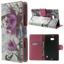 Etui Flip Business Case Nokia Lumia 930 929 Blumenmuster Lotus Blume