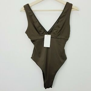 KOOKAI   Womens Algae Minorca Bodysuit NEW + TAGS [ Size 1 or AU 10 / US 6 ]