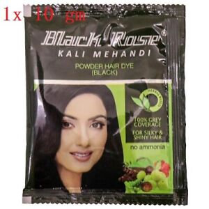 Black Rose| Black MehandI |Herbal Henna Powder|Gray Hair Dye Color | 1 X 10 GM