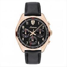 Orologio Uomo Cronografo FERRARI ABETONE 0830570 con Cinturino Pelle