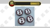 4x 68mm Bentley Rot Nabendeckel Felgendeckel Alu Kappe Nabenabdeckung Wheel Cap