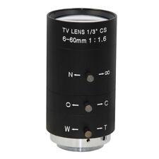 Manual IRIS ZOOM 6-60mm CS C Mount Lens Für CCTV-Kamera Industriemikroskop