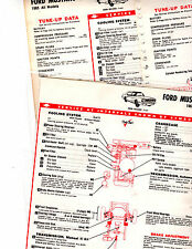 1965 FORD  MUSTANG 6 CYL & V-8 65 LUBE LUBRICATION & TUNE-UP CHARTS T4