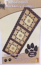 DEB'S CATS N QUILTS #DH1404-BLACKBERRY COBBLER TABLE RUNNER PATTERN