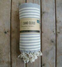 Sand Cloud Gray Stripe Beach Towel Blanket 36x68 100% Cotton